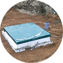 Монтаж пластикового погреба