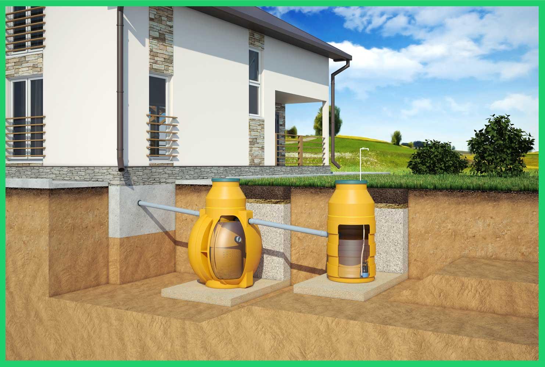 Отвод воды в накопительный колодец для повторного использования