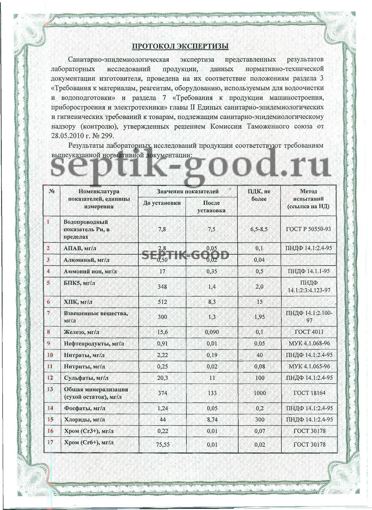 Сертификат Оникс