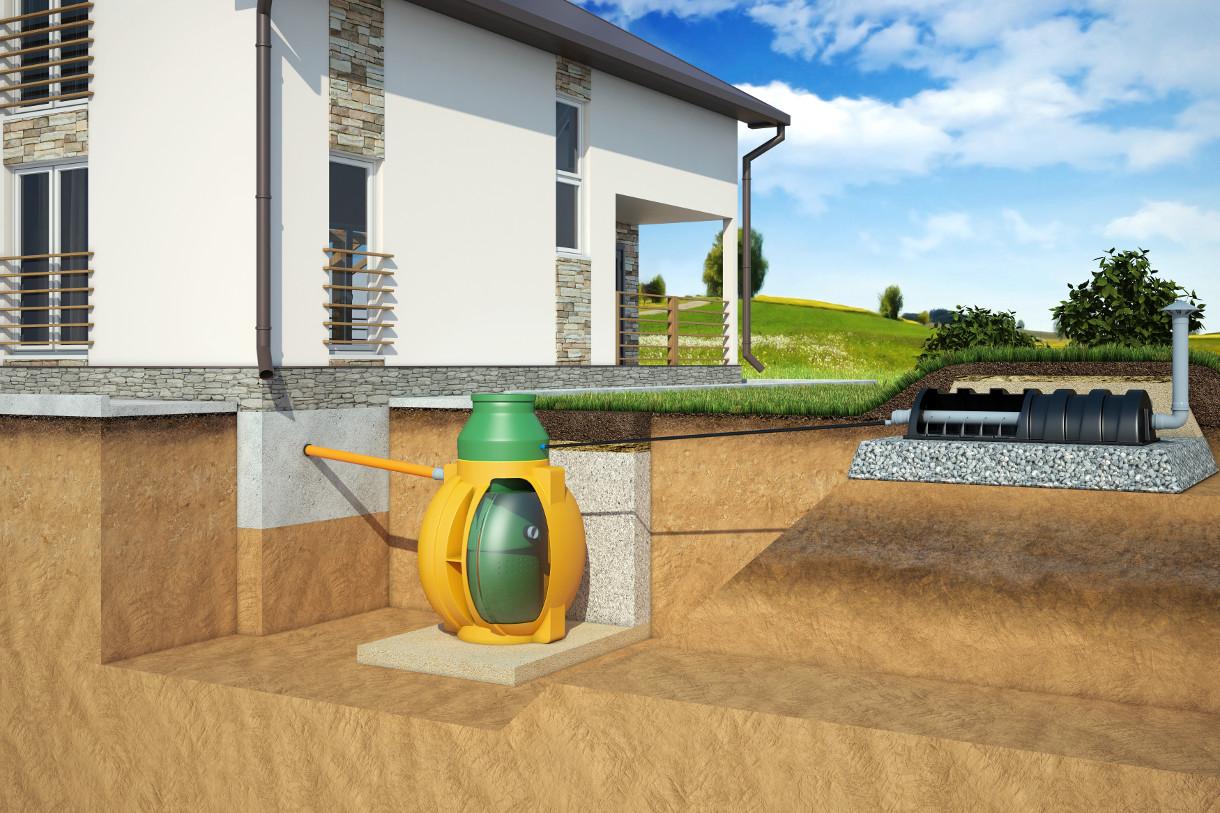 Отвод воды через дренажный